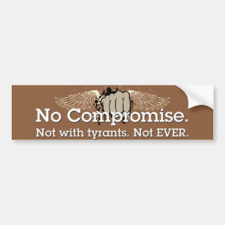 no compromise sticker bumper sticker