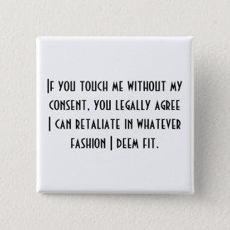 No Consent Ver.2 2 Inch Square Button