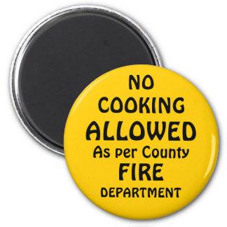 no cooking frig art magnet