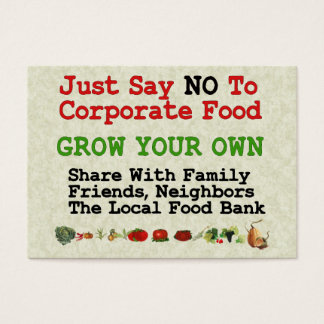 No Corporate Food Business Card