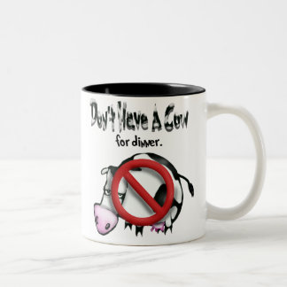 no cows Two-Tone coffee mug