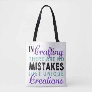 No Crafting Mistakes Uni-sex Tote Attractive Cheap