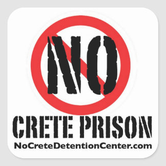 No Crete Prison Stickers