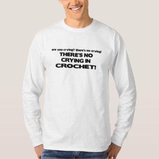 No Crying - Crochet T Shirt