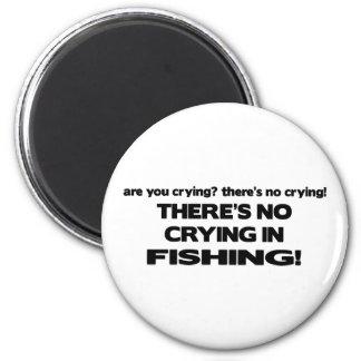 No Crying - Fishing Magnet