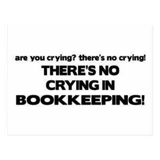 No Crying in Bookkeeping Postcard