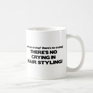 No Crying in Hair Styling Basic White Mug