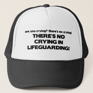 No Crying in Lifeguarding Trucker Hat