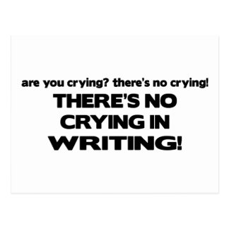 No Crying in Writing Post Cards