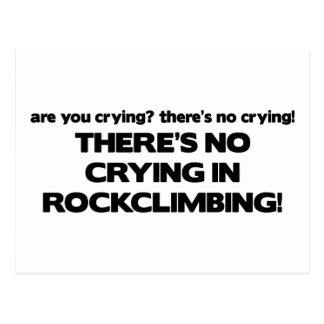 No Crying - Rock Climbing Postcard