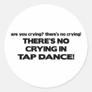No Crying - Tap Dance Round Sticker