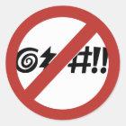 No Cursing Allowed, Sign, Virginia, US Classic Round Sticker