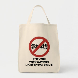 No Cursing Sign Tote Bag