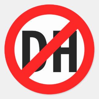 No DH Classic Round Sticker