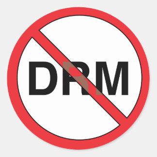 No Digital Right Management (DRM) Classic Round Sticker