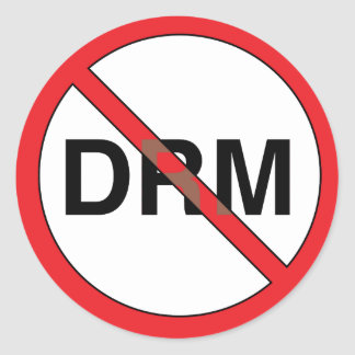 No Digital Right Management (DRM) Stickers