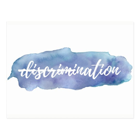 No Discrimination in This Nation Postcard