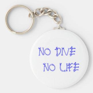 NO DIVE NO LIFE BASIC ROUND BUTTON KEYCHAIN