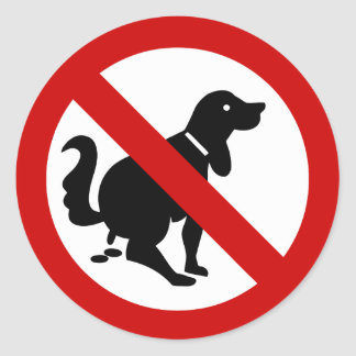 NO Dog Fouling ⚠ Thai Sign ⚠ Classic Round Sticker