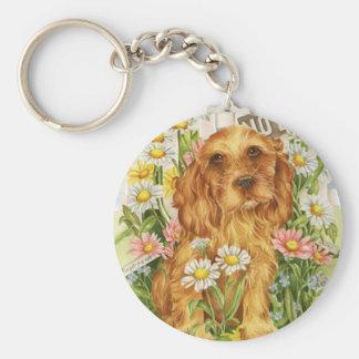 No dogs! basic round button keychain