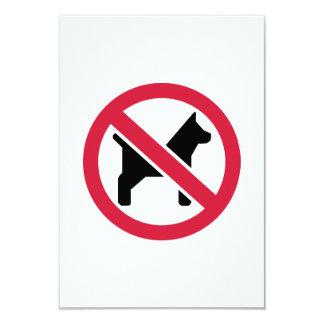 No dogs 3.5x5 paper invitation card