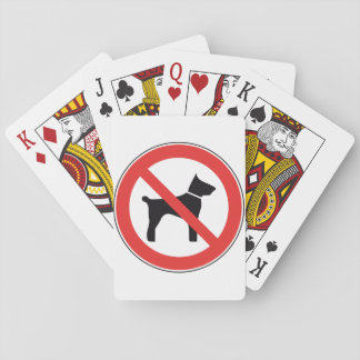 No Dogs Sign Playing Cards