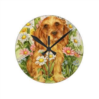 No dogs! wall clock