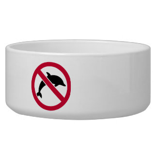 No dolphins dog bowls