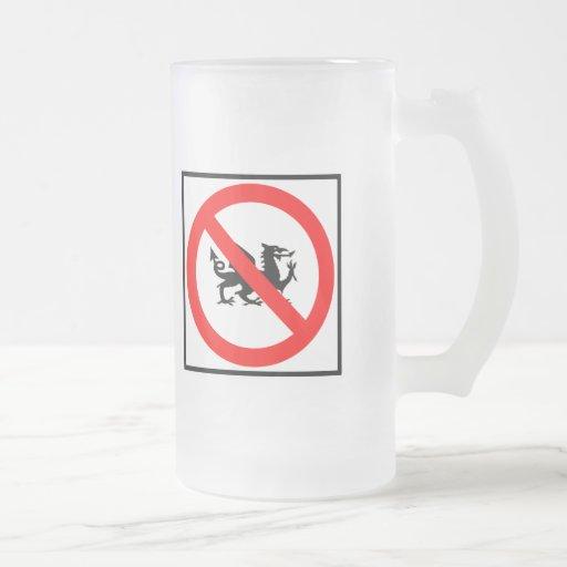 No Dragons Highway Sign Mugs