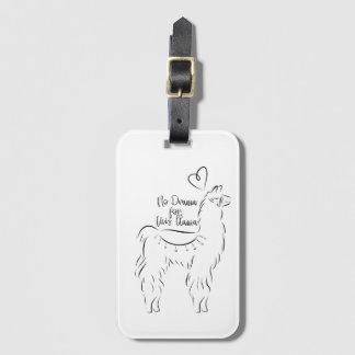 No drama for this llama luggage tag