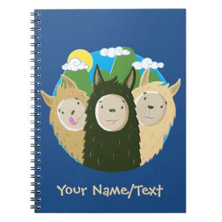 No Drama Llamas Brothers Spiral Notebook