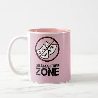 No Drama Zone Two-Tone Coffee Mug