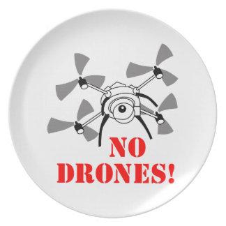 No Drones Plates