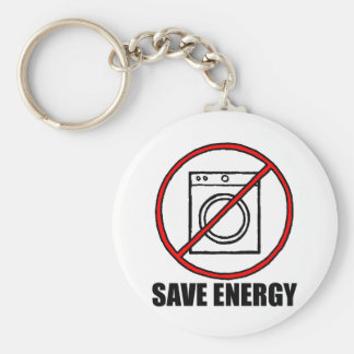 No Dryers SAVE ENERGY Keychain
