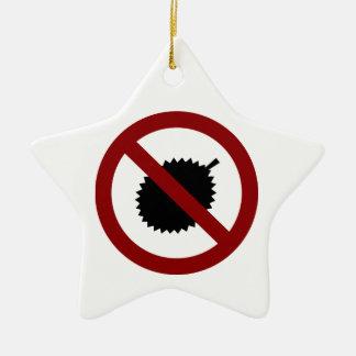 No Durian Ceramic Star Ornament