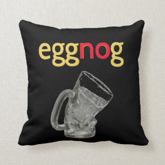 NO Eggnog For Me! I'll Pass. Throw Pillow