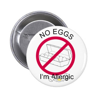 No Eggs 2 Inch Round Button