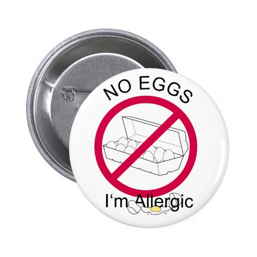 No Eggs Pinback Buttons