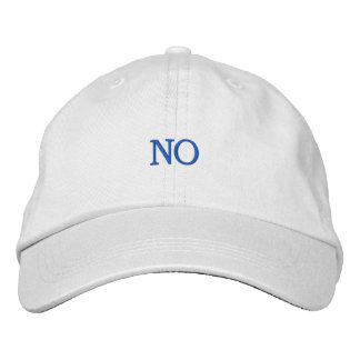 NO EMBROIDERED HAT