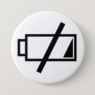 No energy 3 inch round button
