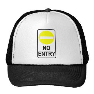 No Entry Road Sign Traffic Cartoon Graphic Design Trucker Hat