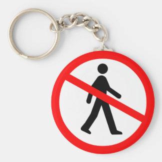 No Entry Symbol Keychain