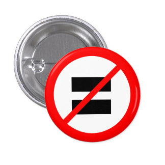 """NO EQUALITY"" 1 INCH ROUND BUTTON"