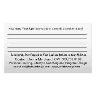 No Excuse Business Card