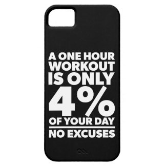 No Excuses - A One Our Workout Is 4% Of Your Day iPhone 5 Cover
