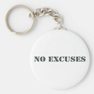 No Excuses keychain 3
