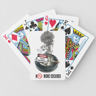 NO EXCUSES Stop Smoking Bicycle Playing Cards