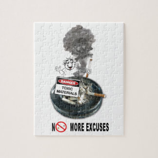 NO EXCUSES Stop Smoking Jigsaw Puzzle