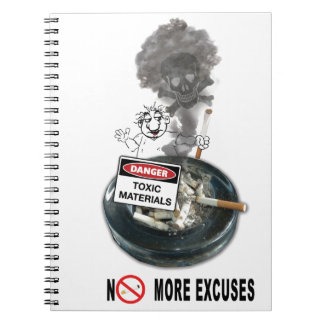 NO EXCUSES Stop Smoking Notebooks