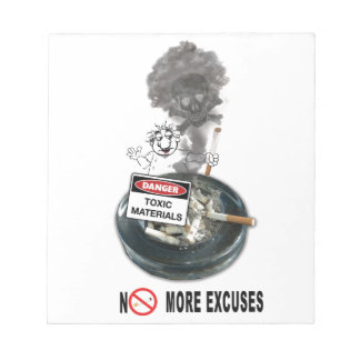 NO EXCUSES Stop Smoking Notepad